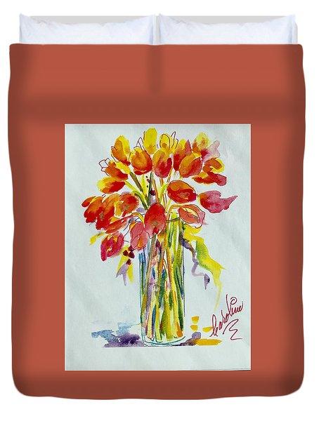 Tulip Fire Element Duvet Cover
