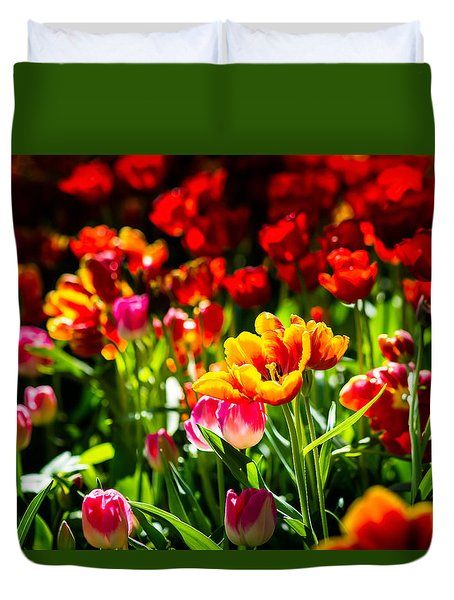 Tulip Flower Beauty Duvet Cover