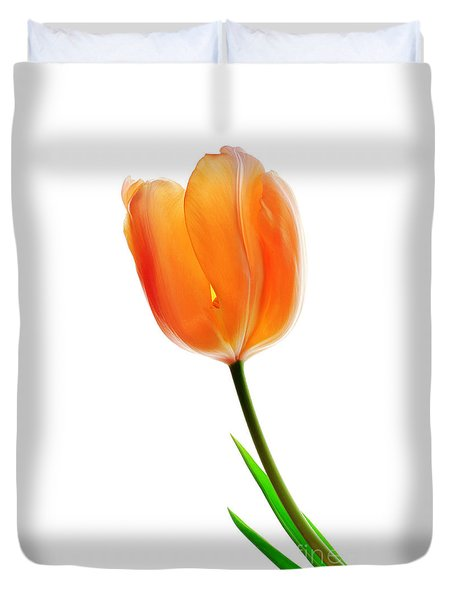 Duvet Cover featuring the photograph Tulip Flower by Charline Xia