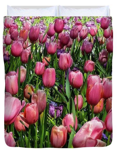 Tulip Flowers  Duvet Cover