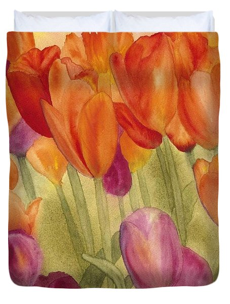 Tulip Glory Duvet Cover