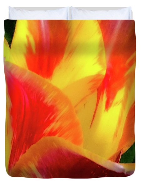 Duvet Cover featuring the photograph Tulip In Bloom by D Davila