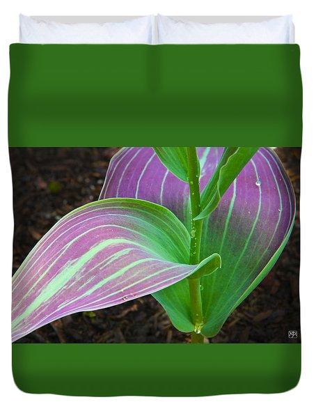 Tulip Leaves Duvet Cover