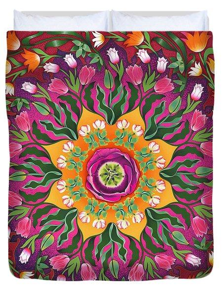 Tulip Mania 2 Duvet Cover by Isobel  Brook Haslam