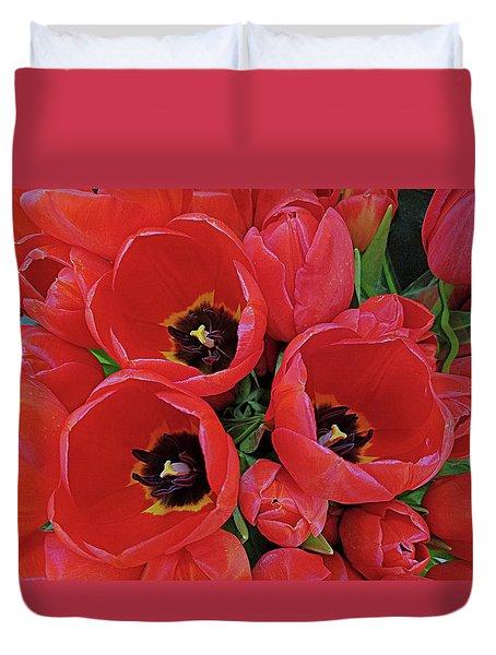 Tulip Parade Duvet Cover