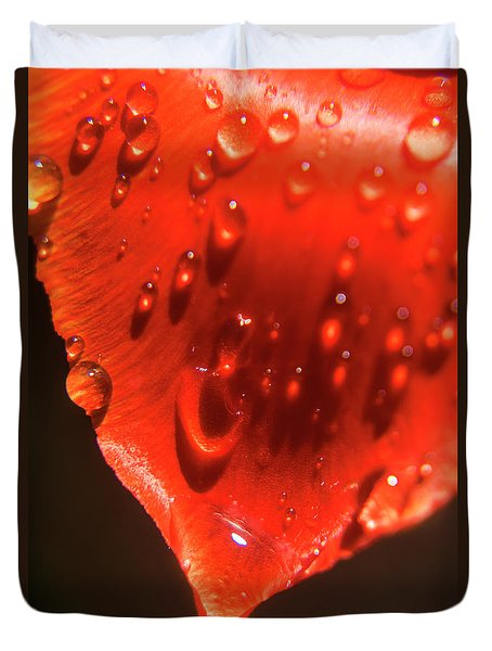 Tulip Petals After A Rain-2197 Duvet Cover