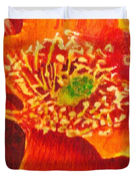Tulip Prickly Pear Duvet Cover