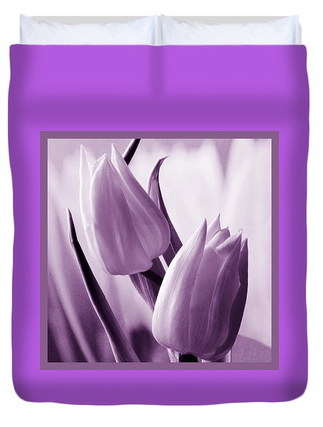 Tulip Purple Tint. Duvet Cover
