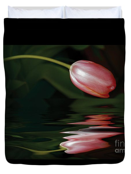 Tulip Reflections Duvet Cover