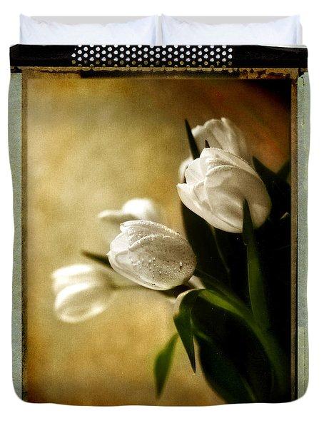 Tulip Side Sepia Duvet Cover