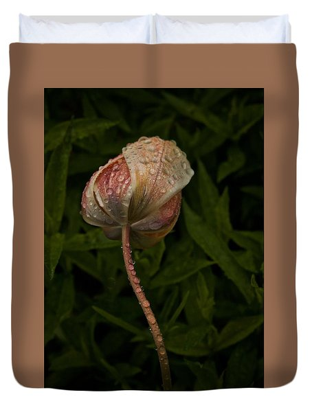 Duvet Cover featuring the photograph Tulip Tear Drops by Richard Cummings