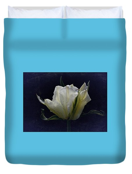 Duvet Cover featuring the photograph Tulip Tears by Richard Cummings