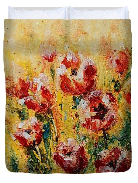 Tulip Waltz Duvet Cover