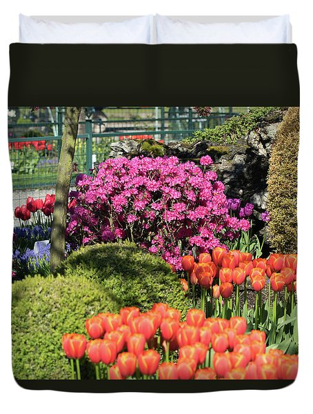 Tulips And Rhodies Duvet Cover