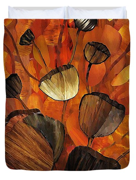 Tulips And Violins Duvet Cover