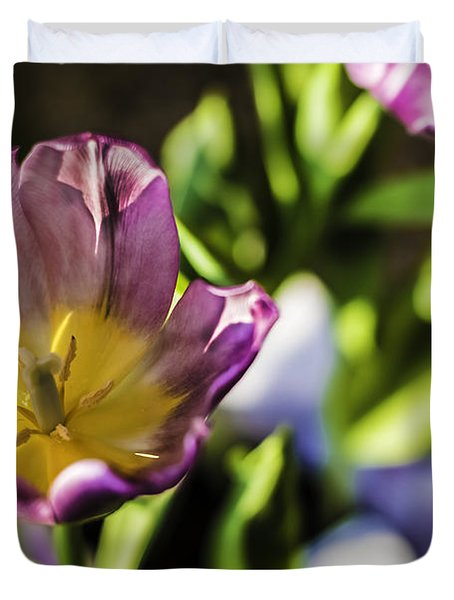 Tulips At The End Duvet Cover