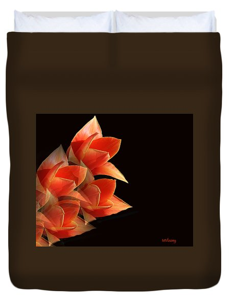 Tulips Dramatic Orange Montage Duvet Cover