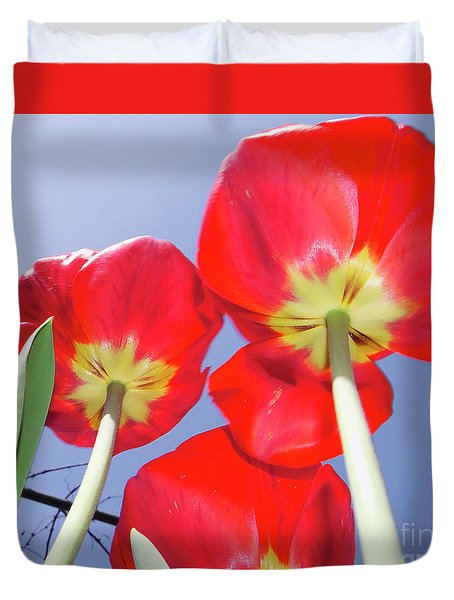 Duvet Cover featuring the photograph Tulips by Elvira Ladocki
