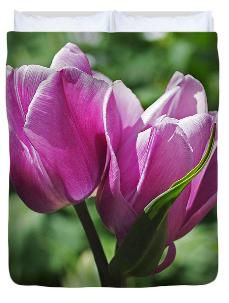 Tulips Entwined Duvet Cover