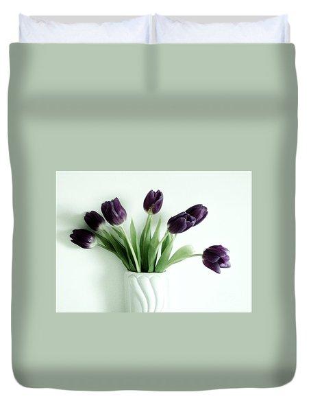 Tulips For You Duvet Cover by Marsha Heiken