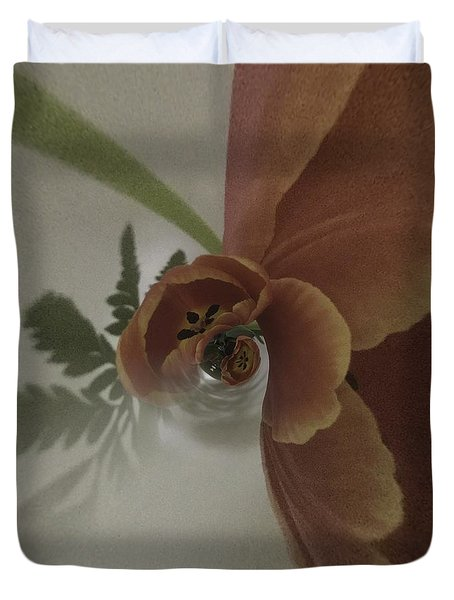 Tulips In A Spin Duvet Cover