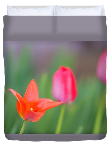 Tulips In My Garden Duvet Cover