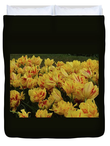 Tulips In The Garden Tulips In The Park  Duvet Cover