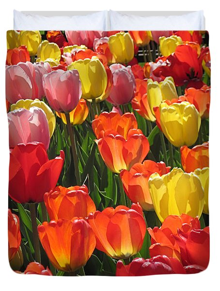 Tulips Like Sunlight Duvet Cover