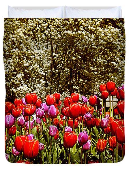 Tulips Duvet Cover by Milena Ilieva