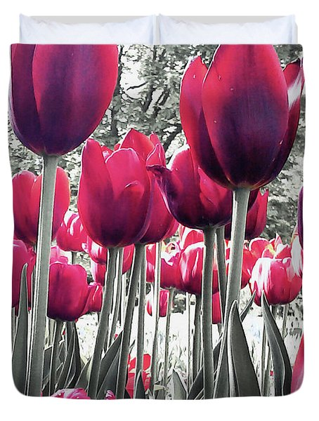 Tulips Tinted Duvet Cover