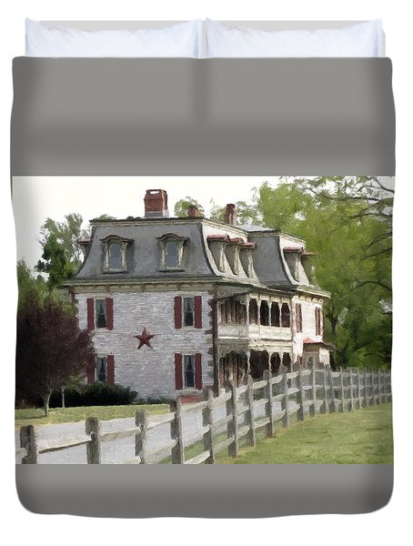 Tulpehocken Manor Plantation Historic Site  Duvet Cover by David Dehner