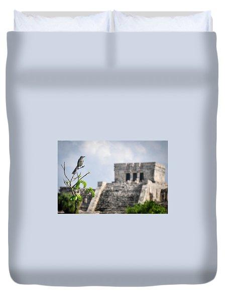 Tulum Mayan Ruins Duvet Cover