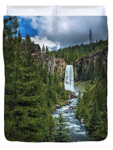 Tumalo Falls Duvet Cover