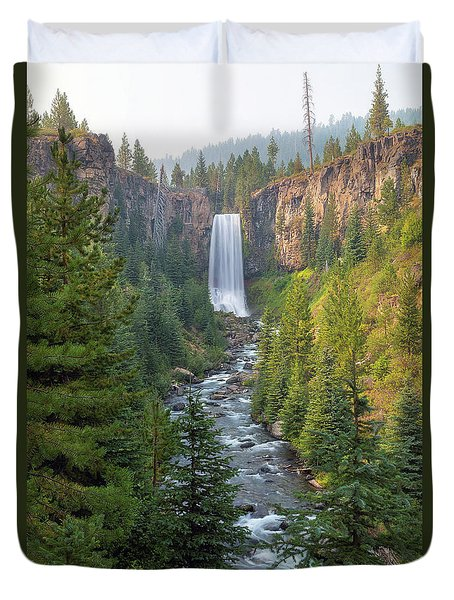 Tumalo Falls In Bend Oregon Duvet Cover by David Gn