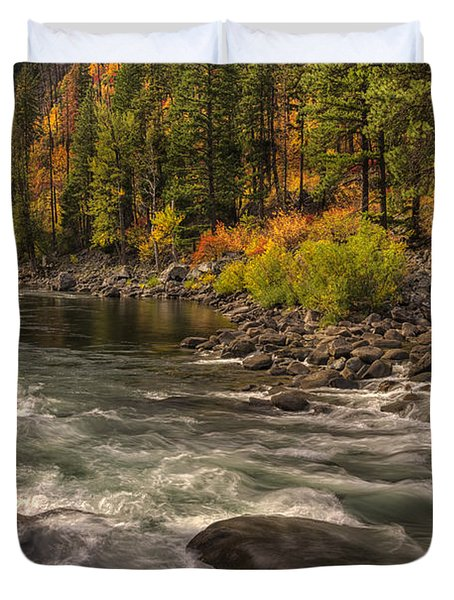 Tumwater Canyon Colors Duvet Cover