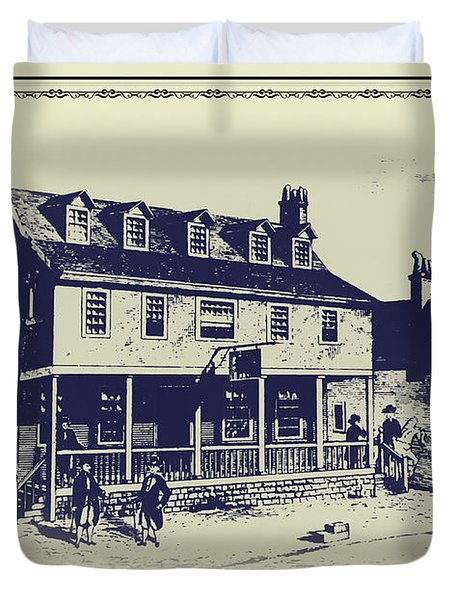 Tun Tavern - Birthplace Of The Marine Corps Duvet Cover by Bill Cannon
