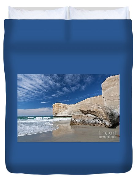 Tunnel Beach 1 Duvet Cover