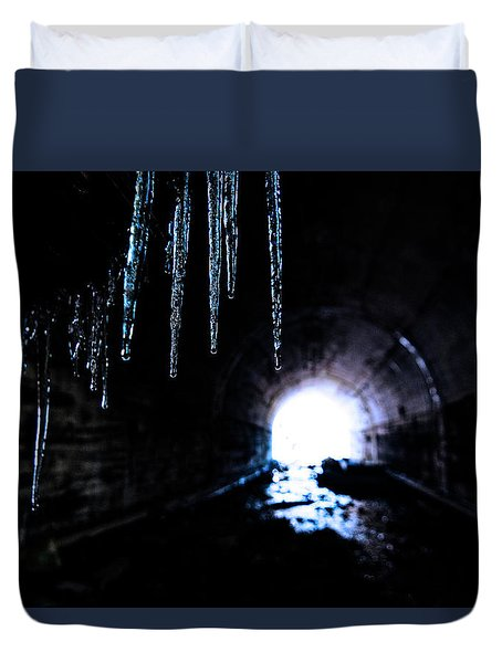 Tunnel Icicles 2 Duvet Cover