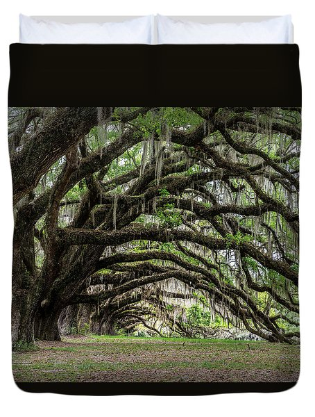 Duvet Cover featuring the photograph Tunnel In Charleston by Jon Glaser