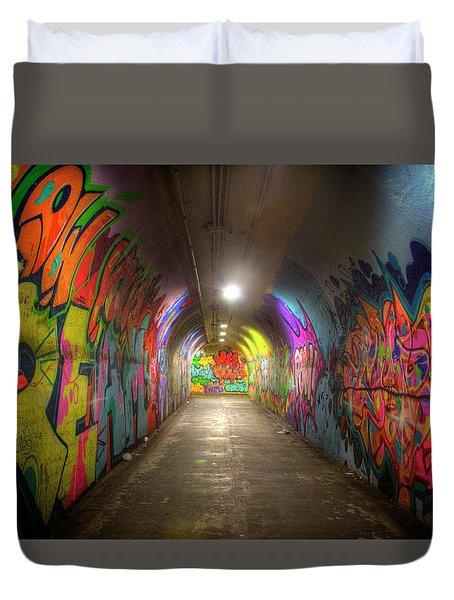 Tunnel Of Graffiti Duvet Cover