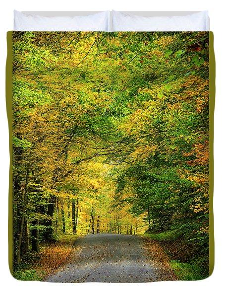Tunnel Of Trees Rural Landscape Duvet Cover