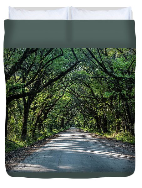 Duvet Cover featuring the photograph Tunnel On Botany Bay by Jon Glaser