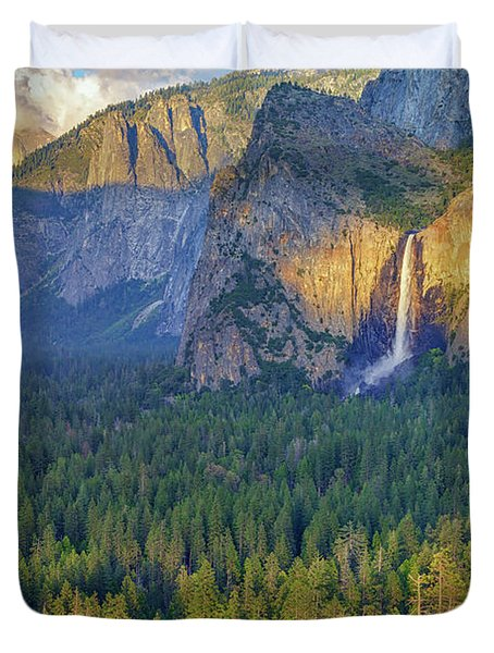 Tunnel View At Sunset Duvet Cover by Rick Berk