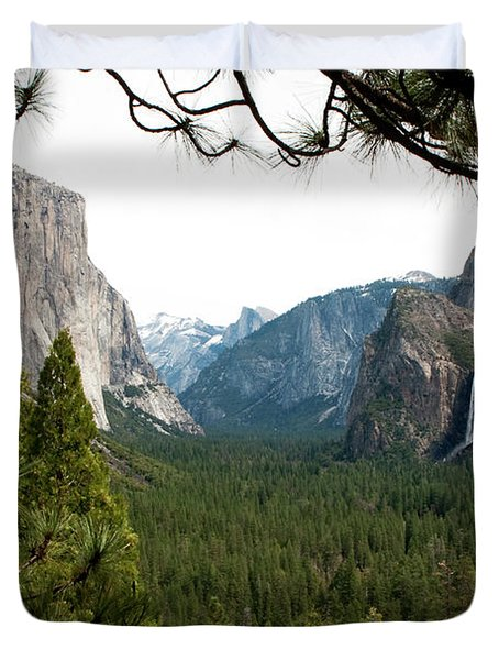 Tunnel View Framed Duvet Cover