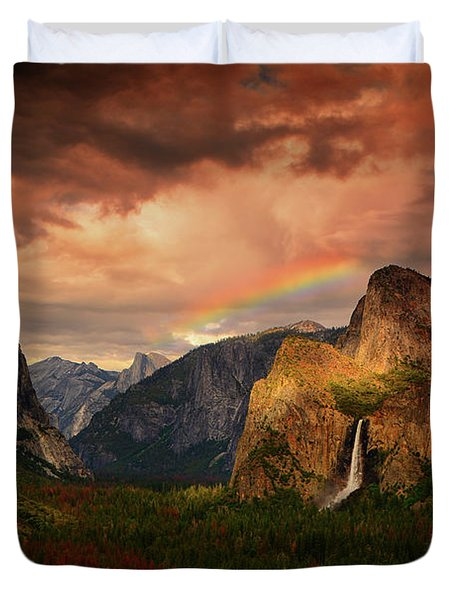 Tunnel View Rainbow Duvet Cover