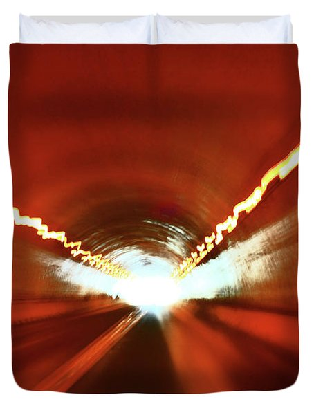 Tunnel Vision Duvet Cover by Gray  Artus