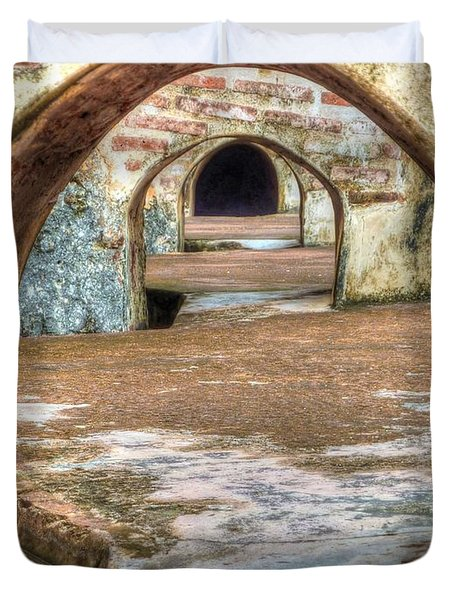 Tunnel Vision Duvet Cover by Michael Garyet