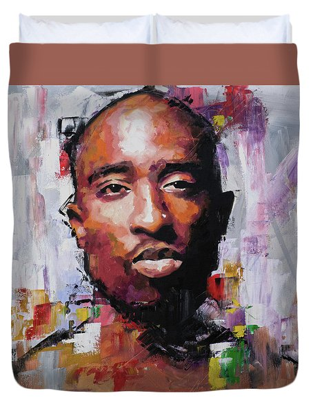 Tupac Duvet Cover by Richard Day