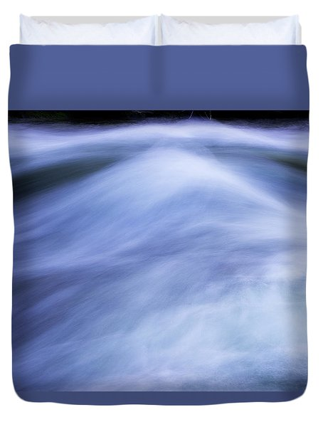 Duvet Cover featuring the photograph Turbulence 3 by Mike Eingle