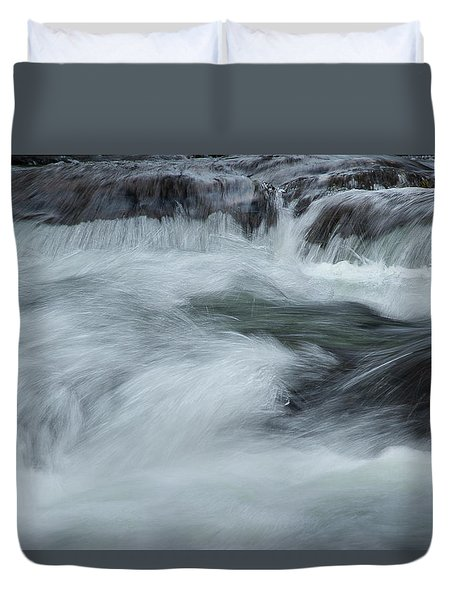 Duvet Cover featuring the photograph Turbulence  by Mike Eingle